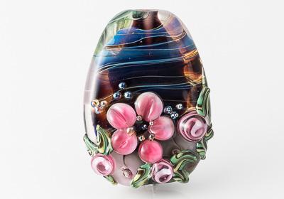 Flowery Lampwork Bead