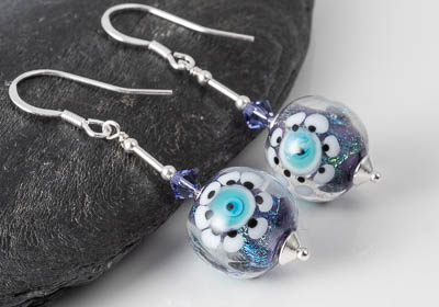 Dichroic Lampwork Earrings