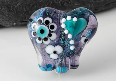 Dichroic Lampwork Elephant Bead