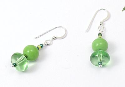 """""""Green Grass"""" Earrings"""