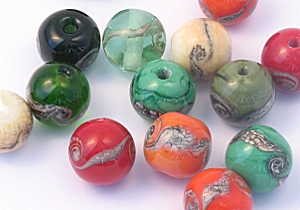 beads fresh out of the kiln
