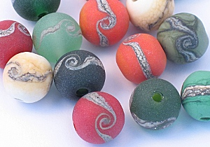 tumbled glass beads