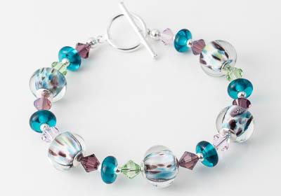 Pastel Lampwork Bracelet