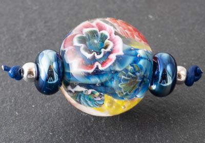 Lampwork Flower Bead Set