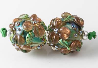 Flowery Lampwork Beads