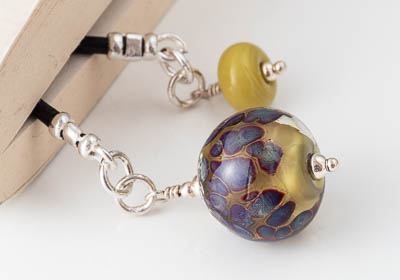 Green Lampwork Bookmark