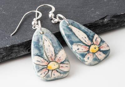 Flowery Ceramic Earrings