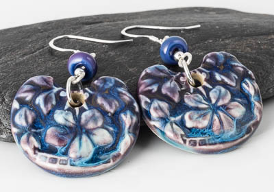 Ceramic Flowery Earrings