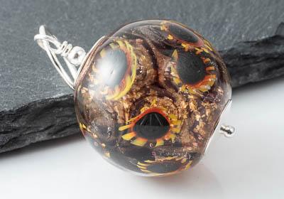 Sunflower Lampwork Pendant Necklace