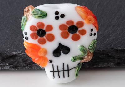 Lampwork Sugar Skull Bead