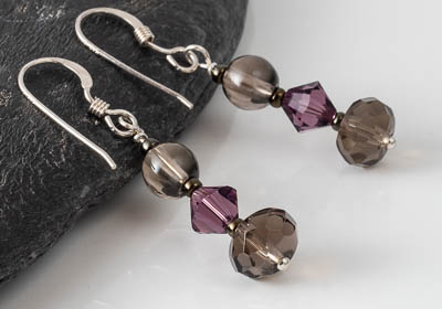 """Damara"" Smoky Quartz Earrings"