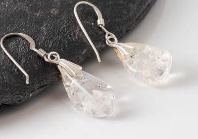 """Ice"" Quartz Earrings"
