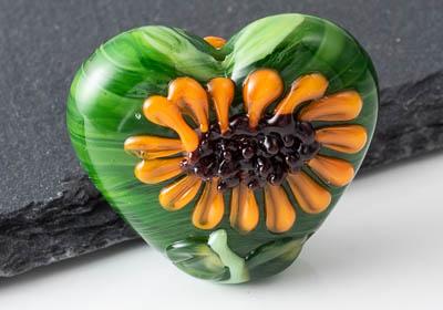 Lampwork Sunflower Bead