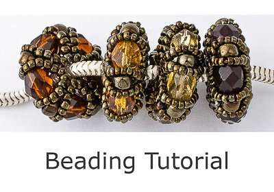 Beaded Bead Tutorial - Charm Bead