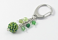 Green Glass Handbag Charm