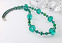 Teal Green Faceted Necklace
