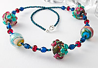 Lampwork Flower Necklace
