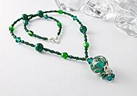 Green Dahlia Necklace