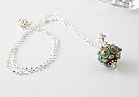 """""""Air"""" Lampwork Chain Necklace"""