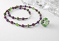 Hollow Flower Bead Pendant Necklace