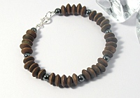 """Earthern"" Wood and Haematite Bracelet"