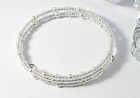 White / Pearly Beaded Bracelet