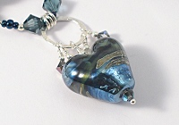"""Molten"" Lampwork Beaded Necklace"