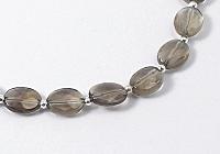 Smoky Quartz and Silver Necklace