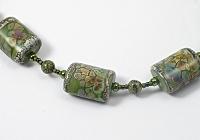 """Watercolour Garden"" Lampwork Beaded Necklace"