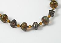 'Maple' Beaded Lampwork Necklace