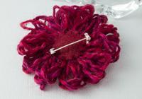 Dark Pink Flower Brooch alternative view 1