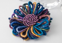 Multi-Colour Flower Brooch