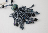 """Blue Fire"" Beaded Necklace"
