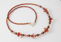 Rust Dichroic Sterling Silver Necklace