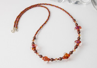 Rust Dichroic Sterling Silver Necklace alternative view 1