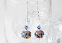 """Carnival"" Lampwork Earrings"