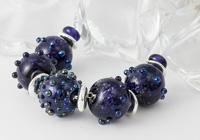 Purple Glitter Lampwork Necklace alternative view 1