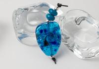Turquoise Glitter Lampwork Bead Set