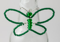 Green Beaded Butterfly Decoration