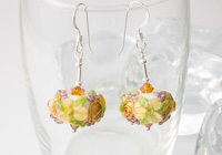 Flower Lampwork Earrings