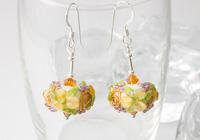 Flower Lampwork Earrings