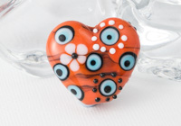 Orange Heart Lampwork Bead alternative view 1