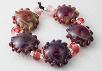 Fire Lotus Wave Lampwork Beads alternative view 1