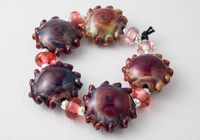 Fire Lotus Wave Lampwork Beads alternative view 2