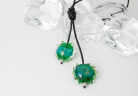 Shimmery Green Lariat alternative view 1