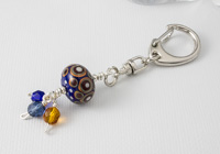 Blue Spotty Handbag Charm
