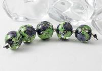 Purple Lampwork Flower Beads