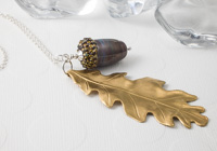 Oak Acorn Pendant Necklace