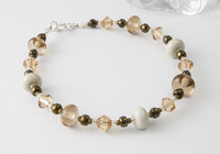 Soft Brown Lampwork Bracelet