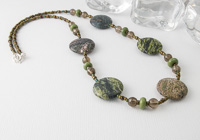 Forest Green Jasper Necklace alternative view 1